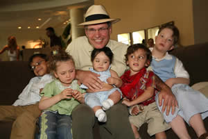 Dr. Borchert with children