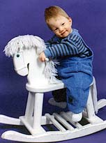 Zachary Katzbeck on a hobby horse